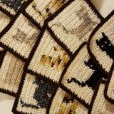 Quadrados feitos crochê Fotos de Stock