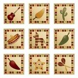 Quadrados mexicanos Fotografia de Stock