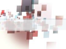 Quadrados no fundo branco Imagens de Stock Royalty Free