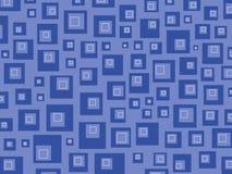 Quadrados retros azuis ilustração royalty free