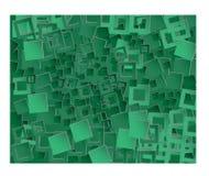 Quadrados verdes do fundo Foto de Stock Royalty Free