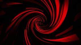 Quadrados vermelhos de Digitas com fundo do laço da distorção VJ do redemoinho vídeos de arquivo