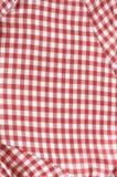 Quadrados vermelhos e brancos escoceses Fotografia de Stock Royalty Free