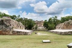 Quadrangle μονών καλογραιών και η πυραμίδα του μάγου, Uxmal, Yucatan, Μεξικό Στοκ εικόνες με δικαίωμα ελεύθερης χρήσης