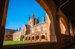Quadrangle -Courtyard of main historic buildings at Sydney University Royalty Free Stock Photography