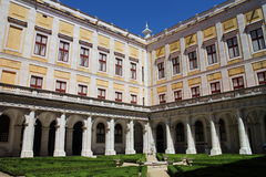 Quadrangle of Mafra National Palace, Portugal Royalty Free Stock Photo