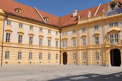 Quadrangle in melk monastery Stock Photography