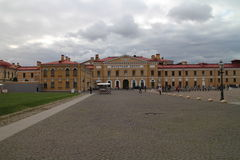 Quadrangle in Peter and Paul Fortress in Saint Petersburg Stock Photos