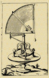 Quadrant. Vector picture, ink drawing, medieval astronomers machine - quadrant Stock Photography