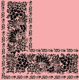 Quadrant of black ornament on pink Stock Photos