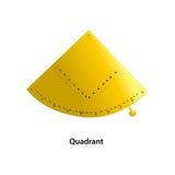 Quadrant. Classic quadrant. with gold color Stock Photos