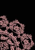 Quadrant of light pink flowers. Illustration with pink flower quadrant ornament Royalty Free Stock Photo