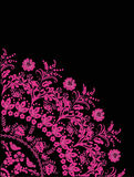Quadrant of pink flowers. Illustration with pink flower quadrant ornament Royalty Free Stock Photography