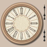 Quadrant of Victorian Clock with Lancets Royalty Free Stock Image