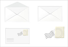 Quadrante bianco, busta con il proprio indirizzo Fotografia Stock Libera da Diritti
