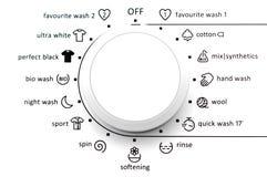 Quadrante della lavatrice Fotografia Stock Libera da Diritti