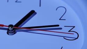 Quadrante delle ore, movimento lento del primo piano stock footage