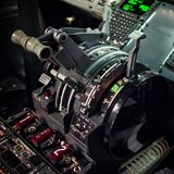 Quadrante di comando di Boeing 737 Immagine Stock