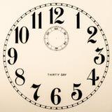 Quadrante di orologio in bianco - nessun mani Fotografia Stock