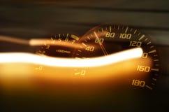 Quadrante di velocità e della striscia palida Fotografia Stock