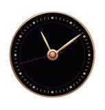 Quadrante nero con le frecce dell'oro Immagini Stock