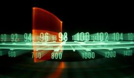Quadrante radiofonico con gli indicatori luminosi Fotografia Stock