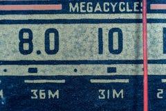 Quadrante radiofonico d'annata Immagini Stock