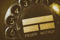 Quadrante rotatorio di vecchio telefono Fotografia Stock