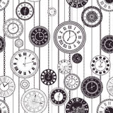Quadranti di orologio d'annata di vettore messi illustrazione vettoriale