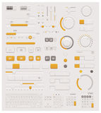 Quadranti di vettore UI messi Fotografie Stock Libere da Diritti