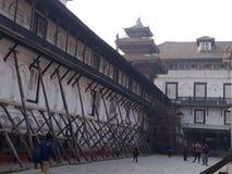 Quadrat Basantapur Durbar stockfotos