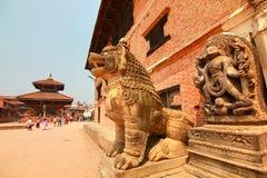 Quadrat Bhaktapur Durbar beim Kathmandutal, Nepal Stockfotos