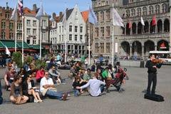 Am Quadrat in Brüssel Lizenzfreies Stockbild