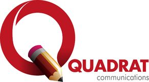 Quadrat communication icon or symbol. Vector abstract, quadrat communication symbol or icon Stock Photography