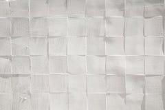 Quadrat deckt keramisches gemaltes weißes raues strukturiertes Wandmuster mit Ziegeln Lizenzfreie Stockfotografie