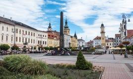 Quadrat in der Stadt Banska Bytsrica, Slowakei Lizenzfreie Stockbilder