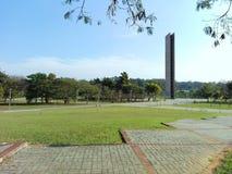 Quadrat der Uhr der Universität von São Paulo Brazil lizenzfreie stockbilder