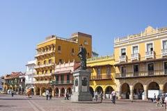 Quadrat der Wagen, Cartagena Stockbild