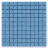 Quadrat der Wiedergabe 3D blaues Mosaikmuster Lizenzfreie Stockfotografie