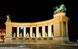 Quadrat des Heldes, Budapest Lizenzfreies Stockbild