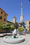 Quadrat des San- Rafaeltriumphes in Cordoba Stockfotos