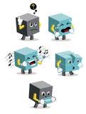 Quadrat-Geformte Karikaturen Stockbilder