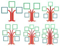 Quadrat gestaltet Baum Stockfotos