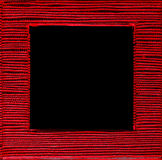 Quadrat gestalteter roter schwarzer Hintergrund der Textbox Lizenzfreies Stockfoto