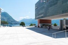 Quadrat am GUMMILACK Lugano Arte e Cultura lizenzfreies stockbild