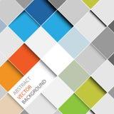 Quadrat-Hintergrundillustration des Vektors abstrakte Lizenzfreie Stockfotografie