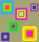Quadrat innerhalb des Quadrats Stockbilder