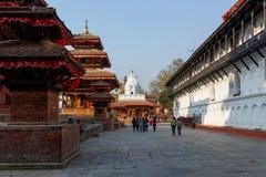 Quadrat Kathmandus Durbar in Nepal Stockfoto