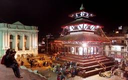 Quadrat Kathmandus Durbar während des Festivals Lizenzfreie Stockfotografie