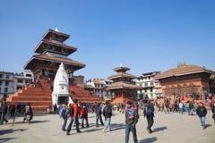 Quadrat Katmandu-Durbar, Nepal Stockbilder